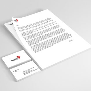 A4 paper and Business Card Mockup Free PSD