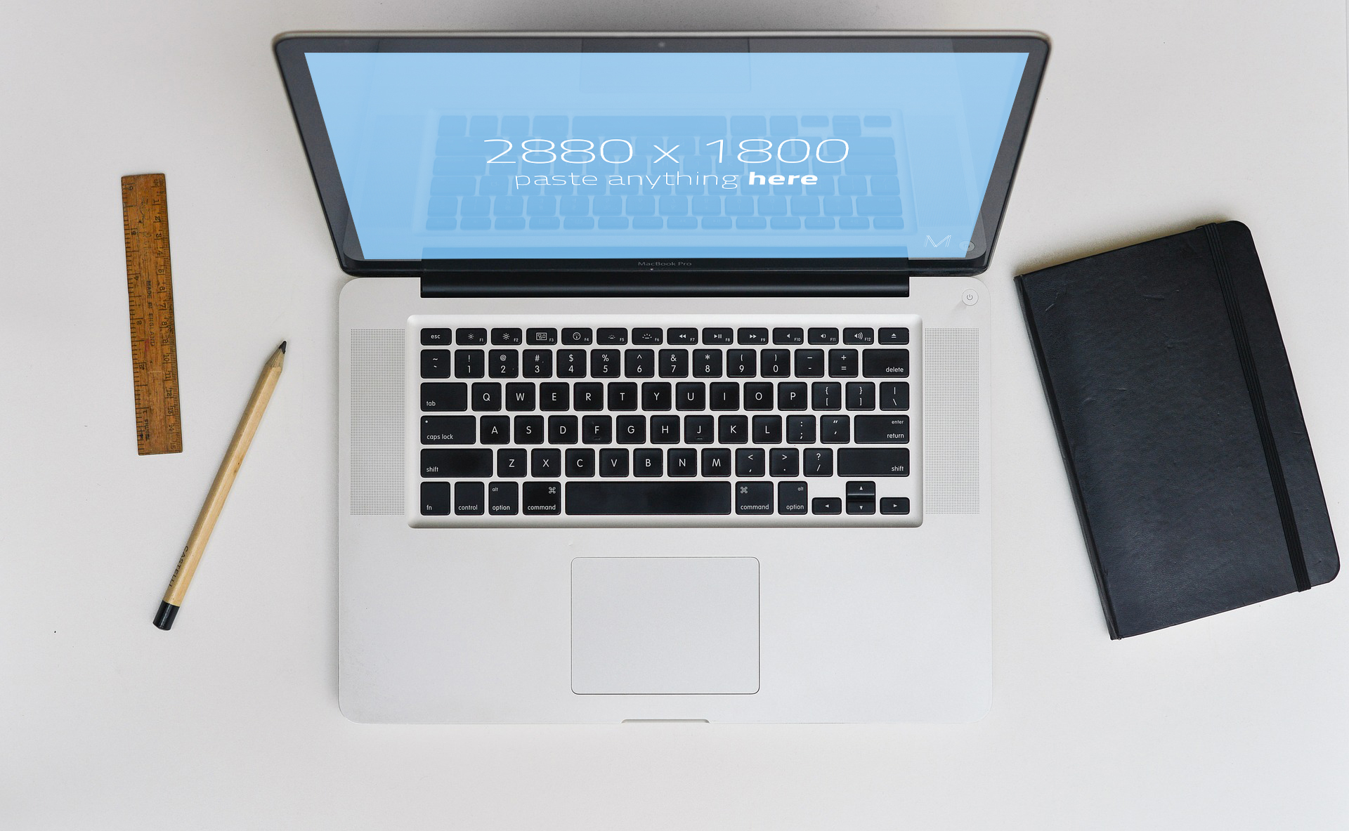 Macbook Pro table Top Mockup Free PSD