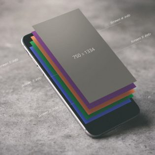 iPhone Perspective View Mockup Free PSD