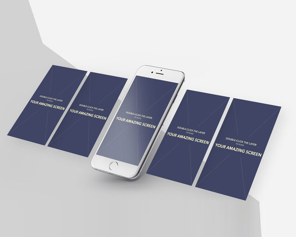 iPhone App Screens Mockup PSD