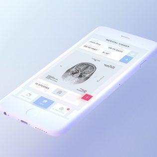 White iPhone 7 Mockup Free PSD