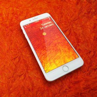 iPhone 7 Rose Gold Mockup Free PSD