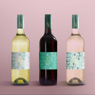 Wine Bottles Mockup Free PSD