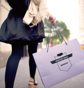 Shopping Paper Bag Free PSD Mockup