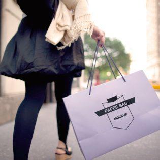 Shopping Paper Bag Free PSD Mockup