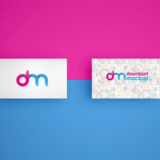 Simple Business Card Mockup PSD