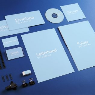 Corporate Identity Stationary Mockup PSD