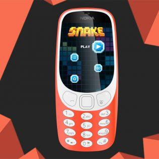 New Nokia 3310 Mockup Free PSD
