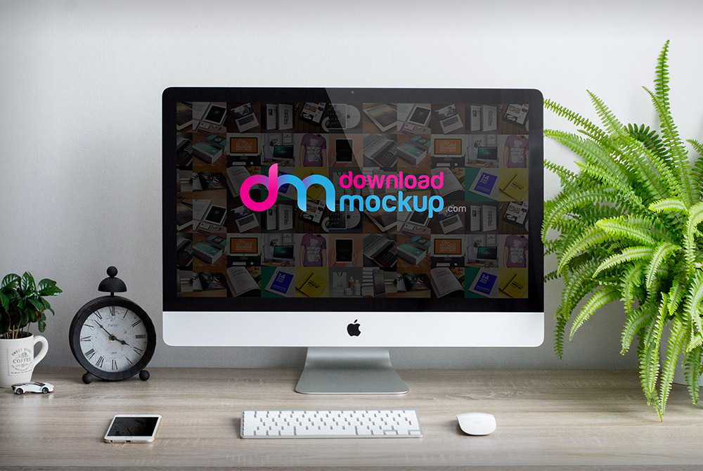 Apple IMac 27 Inch Mockup PSD