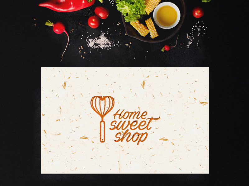 Restaurant Logo Free Mockup PSD