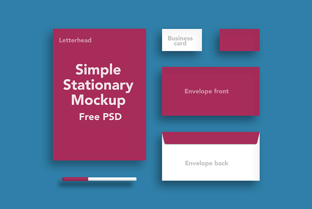Simple Stationary Mockup Free PSD