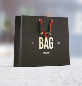 Paper Shopping Bag Mockup PSD