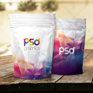 Foil Product Packaging Mockup PSD
