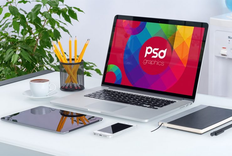 Macbook Pro Mockup PSD workstation, workspace, Work, Showcase, Realistic, PSD Mockups, PSD, pro, presentation, photorealistic, Office Desk, Office, NoteBook, mockup psd, mock-up, macbook pro mockup, macbook pro, Macbook, Laptop, indoor, Freebie, Free PSD, free mockups, Desk, Corporate, Apple,