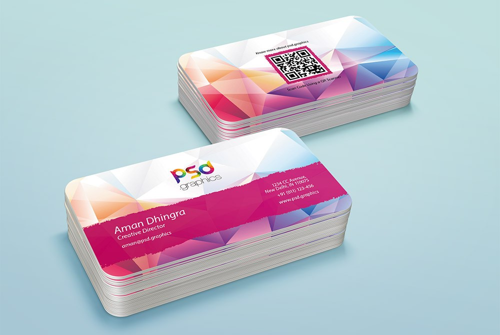 Rounded Business Card Template PSD
