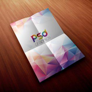 Folded A4 Paper Mockup PSD