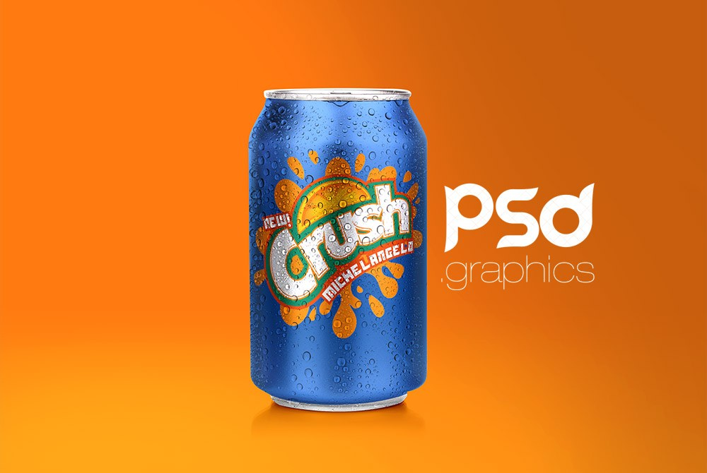 Soda Can Mockup Free PSD