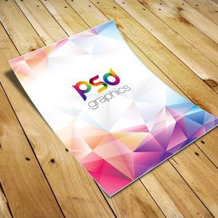 A4 Paper Flyer Mockup PSD