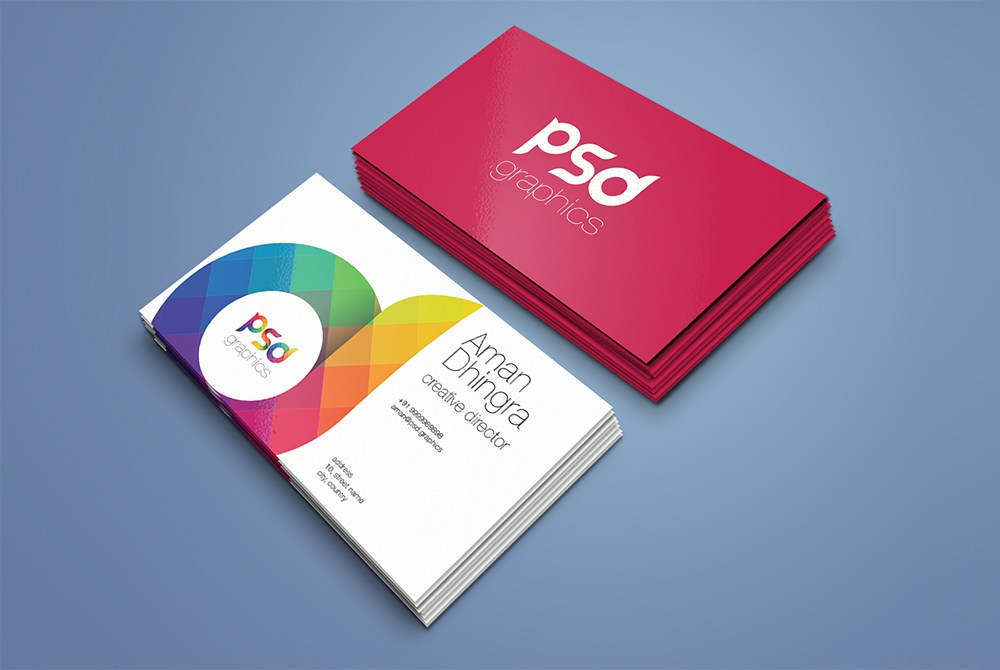 Business Card Mockup Template Free PSD