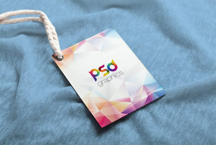 Label Tag Mockup Free PSD