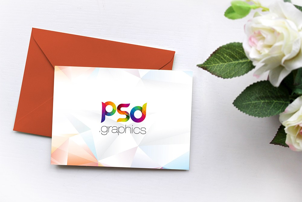 Invitation Card Mockup Free Psd Download Download Psd