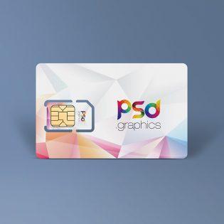 Sim Card Mockup Free PSD