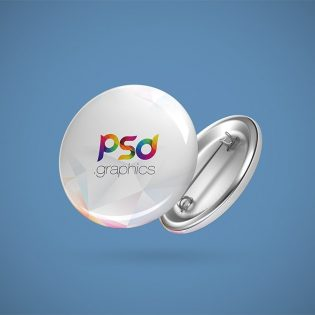 Pin Button Badge Mockup Free PSD
