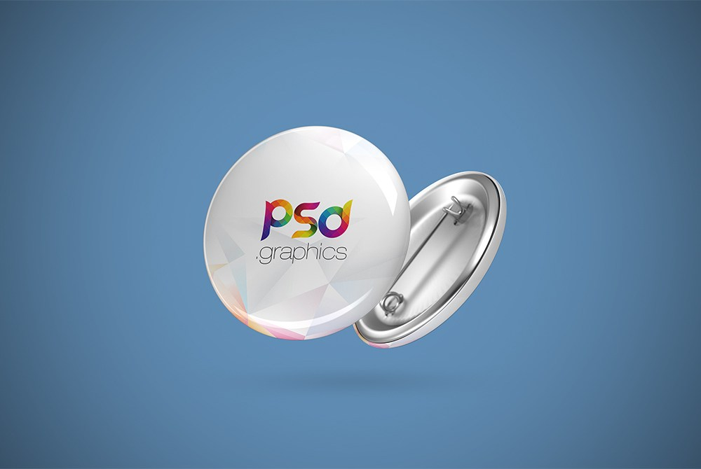Download Free Pin Button Badge Mockup Free PSD at Downloadpsd.cc