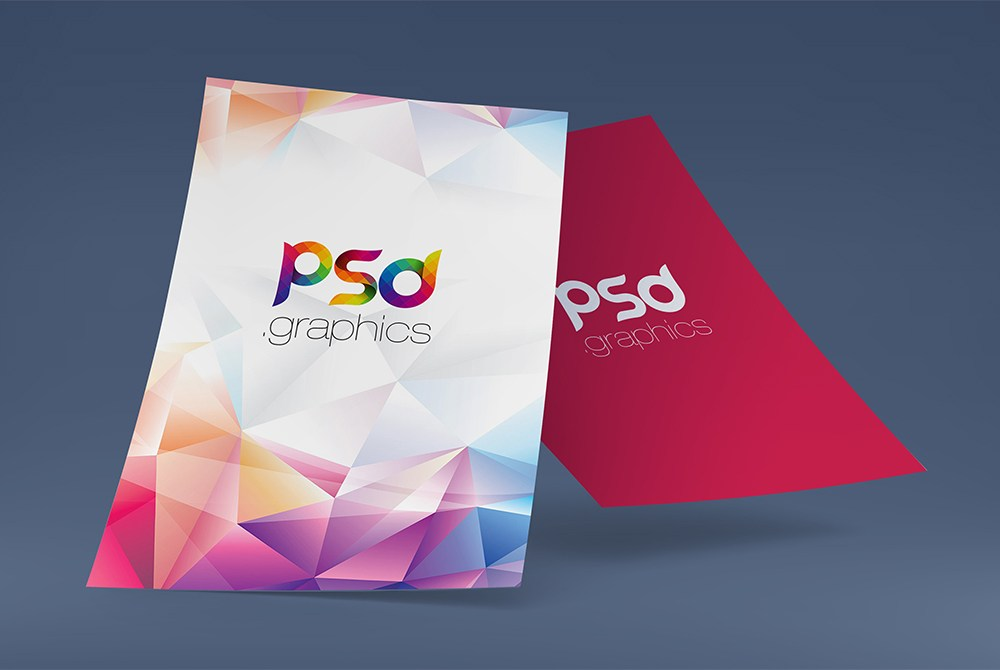 A4 Poster Mockup Free PSD
