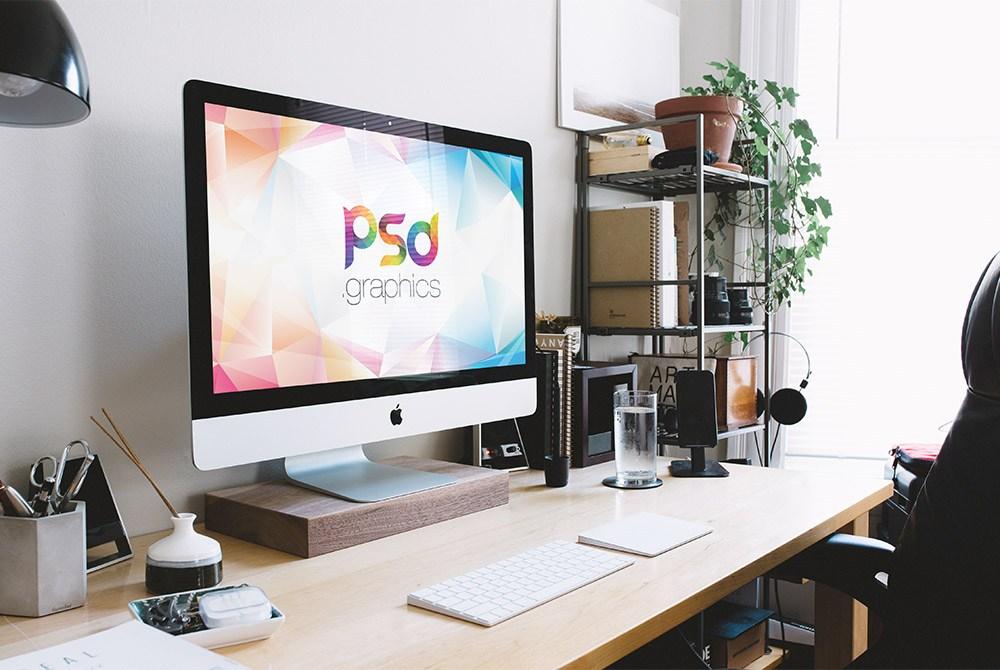 New iMac Mockup Free PSD