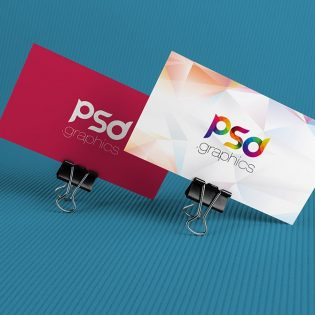 Corporate Business Card Mockup Free PSD