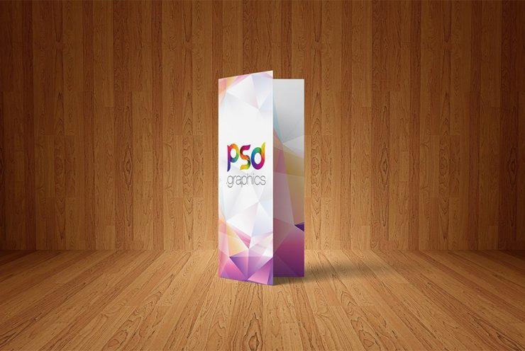 Bi-Fold Brochure Mockup Free PSD