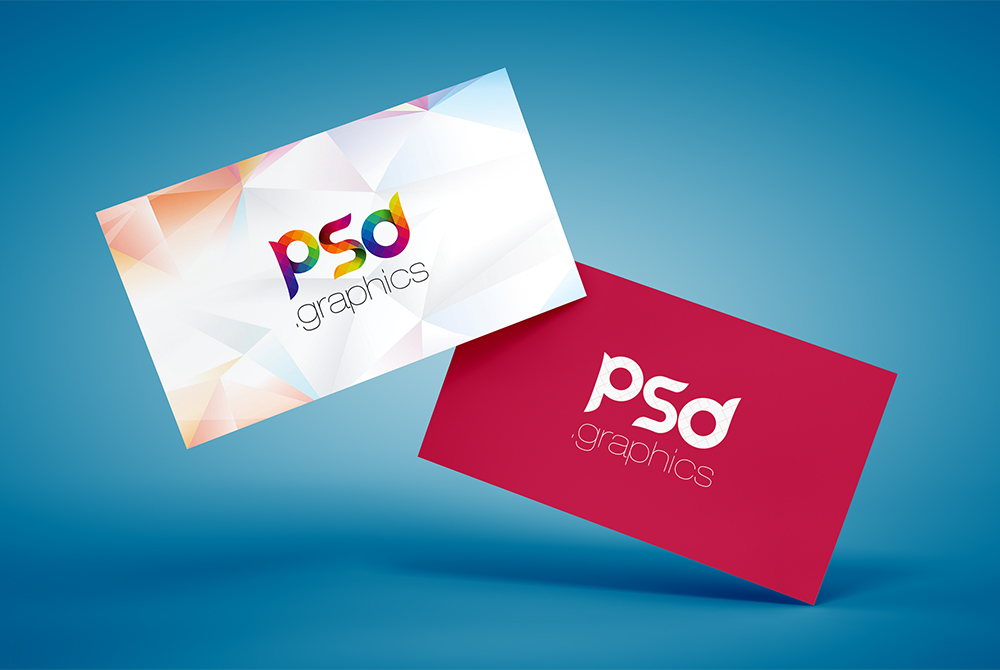 Floating business card mockup free psd download psd floating business card mockup free psd colourmoves
