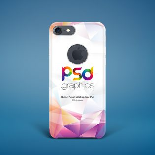 iPhone 7 Case Mockup Free PSD