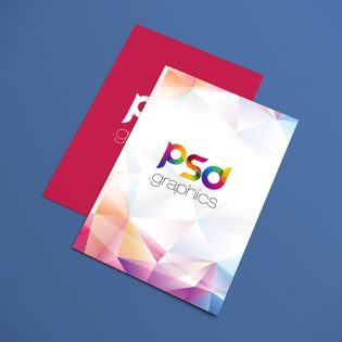 A4 Flyer Poster Mockup Free PSD