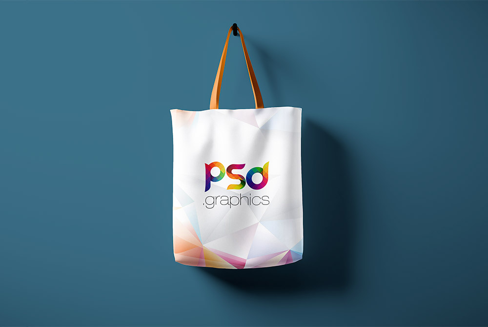 Hanging Tote Bag Mockup Free PSD