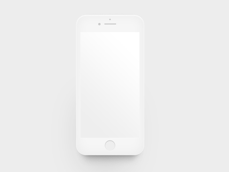 Flat iPhone mockup Free PSD