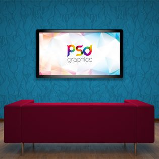 TV Mockup Free PSD