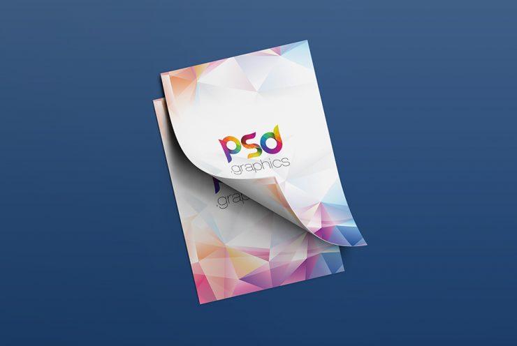 A4 Flyer Mockup Free PSD