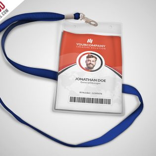 Multipurpose Office ID Card Template PSD