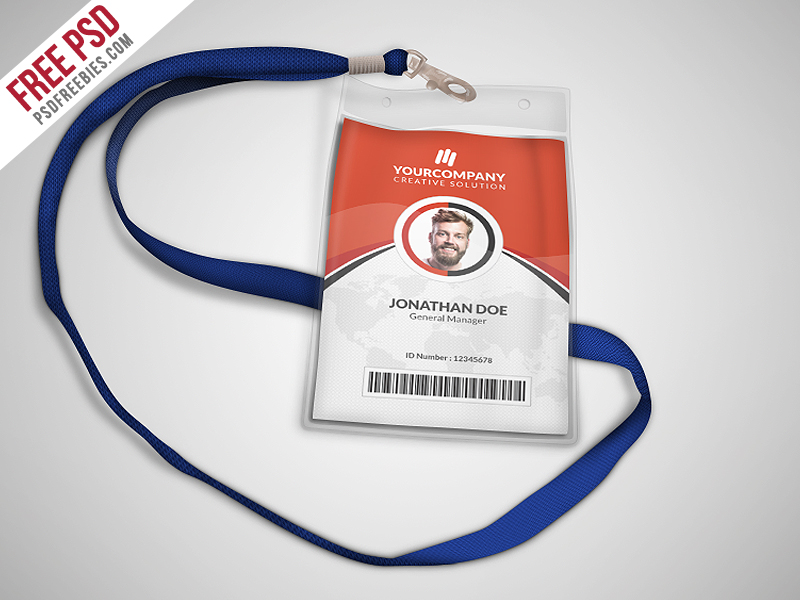 Multipurpose Office ID Card Template PSD Download Download PSD - Card template free: employee id card template