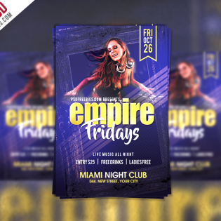 Friday Party Flyer Template Free PSD