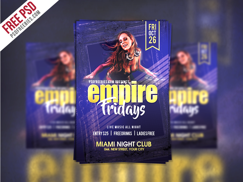 Friday Party Flyer Template Free Psd Download Download Psd