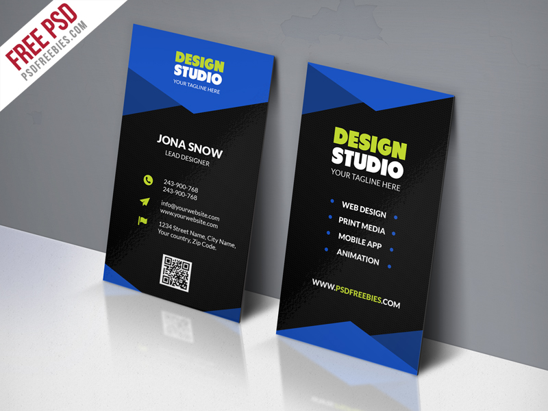 Design Studio Business Card Template Free PSD Download - Download PSD