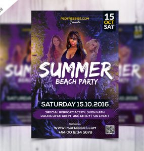 Summer Beach Party Flyer Template Free PSD Template, summer template, summer poster, summer party poster, summer party flyer, summer party, summer flyer, summer break, summer beach, Summer, Sea, psd flyer, PSD, Print, Poster, pool, party flyer, Party, outside, outdoors, ocean, Night Club, New Flyer PSD, Music, Modern, miami, live music, Light, invitation, Hot, Holiday, Fresh, Free PSD, Free FLyer Templates, free flyer template, flyer templates, flyer template, Flyer, festival, fest, Event Flyer PSD, Event, DJ, Design, creative Flyer PSD, Cover, concert, cocktail, caribbean, Blue, beach party poster, beach party flyer, beach party, beach flyer, beach,