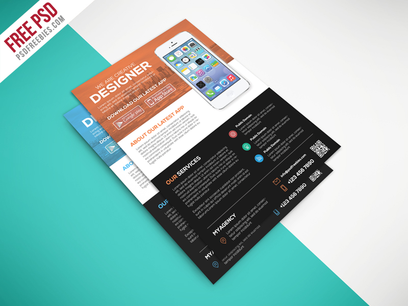 Multipurpose Mobile App Flyer Free Psd Template Download Download Psd