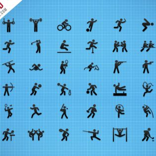 Flat Sports Iconset Free PSD