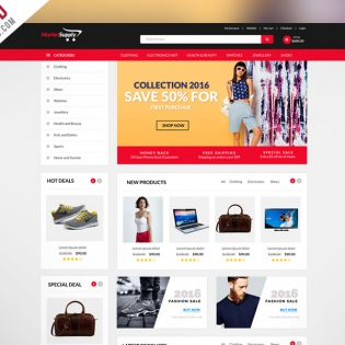 MultiPurpose eCommerce Website Template PSD