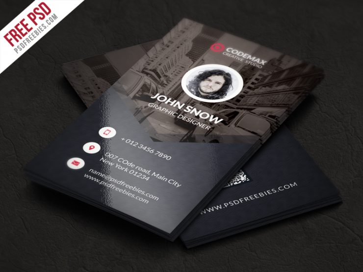 Modern Business Card Free PSD Template Vertical, verical business card, unique, Template, technology, symple, studio, standard, Simple, QR code business card, psdfreebies, psdfreebie, psd freebie, PSD, Professional, Print, Play, Photo, Personal, official, Office, new, modern design, modern business card, Modern, Minimalist, magagine, light blue, industry, industrial, Graphics, graphic template, Graphic, Free PSD, Free Card PSD, free card, exceptional, elegant, easy to edit, download business card, Download, designer, Design, dark elegant, dark blue, Dark, Creative, Corporate, Cool, company, colors, Colorful, cmyk, Clean, Business Card, Business, both side design, Black, Best Freebie, attractive, agency,