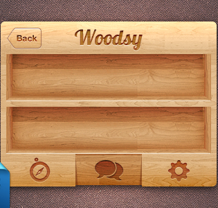 iPhone Wooden UI PSD Freebie